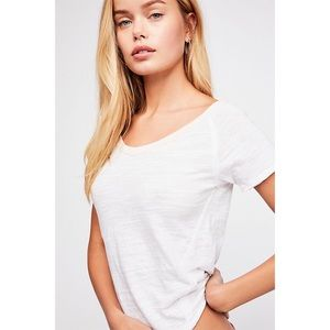 NWT Free People Frenchie Ringer Tee